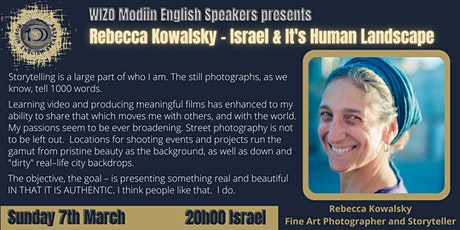 Rebecca Kowalsky - Israel and It's Human Landscape tickets