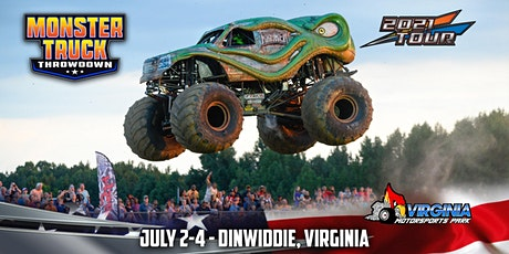 Monster Truck Throwdown - Dinwiddie, VA - July 2/3/4, 2021 tickets