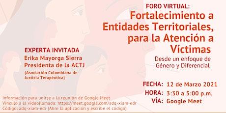 Fortalecimiento a Entidades Territoriales para la Atención a Víctimas VBG entradas