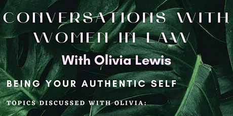 Conversations with Women in Law - Olivia Lewis tickets