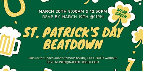 St. Patrick's Day Beatdown with Naperville Fit Body Boot Camp - 8 AM tickets