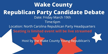 Wake County Republican Party Candidate Debate tickets