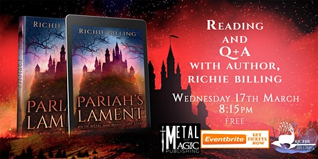 Pariah's Lament - Reading and Q+A With Author Richie Billing tickets