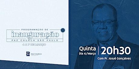 Inauguração Paz São Paulo | Quinta (4/Março) | 20h30  (2º Culto) ingressos