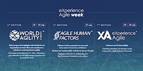 eXperience Agile Week 2021 - Doing the impossible, overcoming the obstacles biglietti