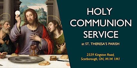COMMUNION SERVICE: Sunday, 11:30 AM billets