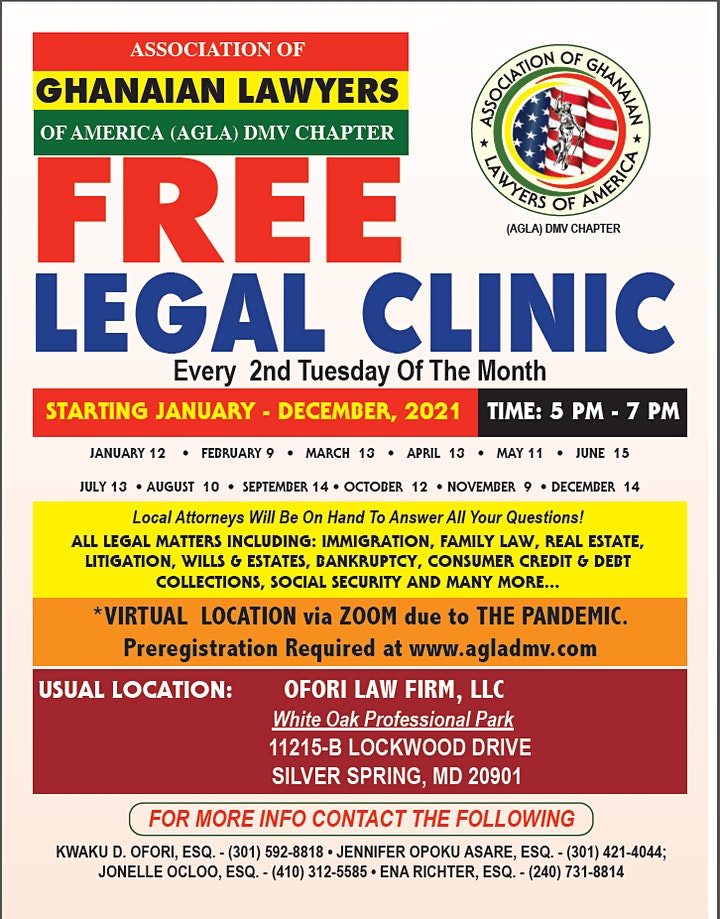 AGLA DMV Free Legal Clinic image