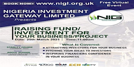 Raising Fund/Investment for your Business/Project tickets