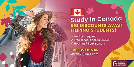 Study in Canada – Waived application fee & IELTS! tickets