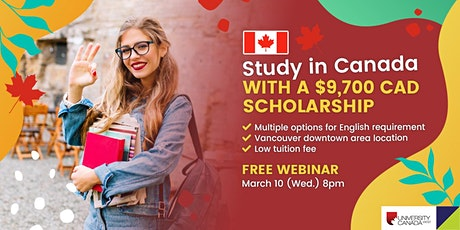 Study in University of Canada West with a $9,700 Scholarship tickets