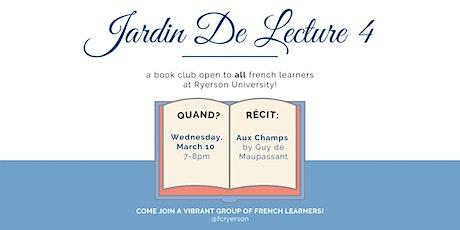 Jardin de Lecture - Book Club ingressos