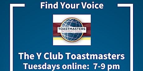 The Y Club Toastmasters Edmonton tickets