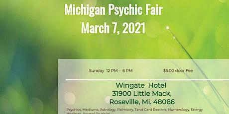 Michigan Psychic Fair  Roseville, March 7, 2021 entradas