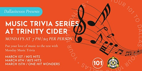 Music Trivia Series: 80's Hits tickets