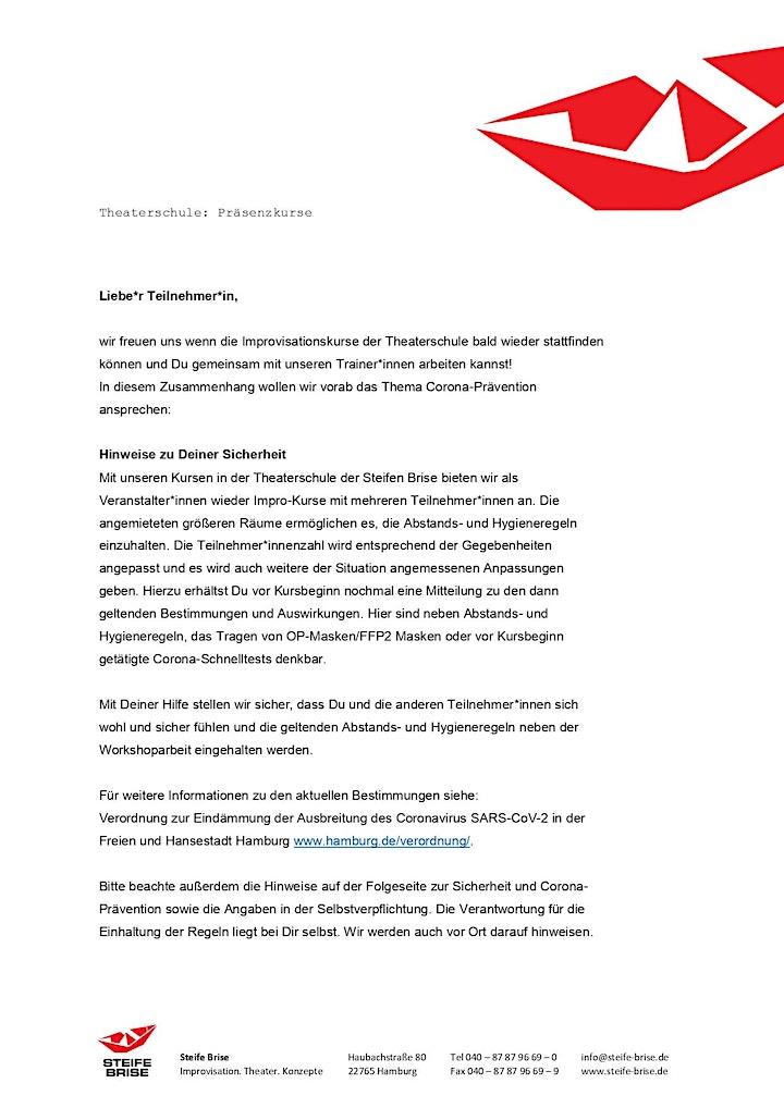 """Dienstagsdoppel """"Lampenfieber als Chance"""" / Theaterschule (Präsenz): Bild"""