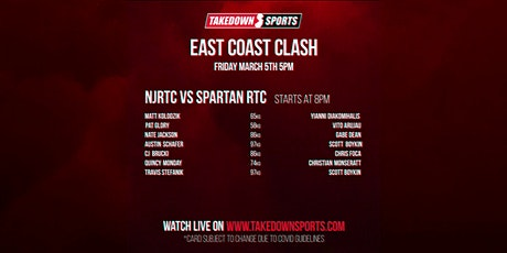 Takedown Sports Presents! The East Coast Clash tickets