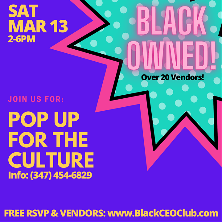 Black Owned Pop Up For the Culture: Party & Shop! image