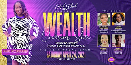 The Wealth Creation Suite: How- To Start Your Business From A-Z Tickets