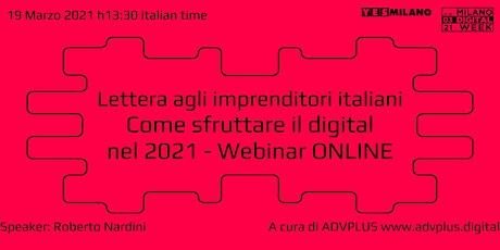 Lettera agli imprenditori: come sfruttare il digital - Milano Digital Week biglietti