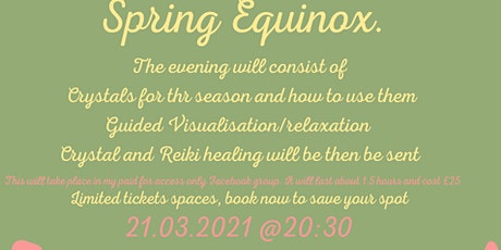 Reiki and Crystal Healing for Spring tickets
