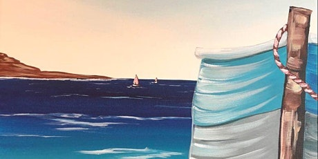 Paint Night in Rockland - Boat on the beach at G.A.B.'s tickets