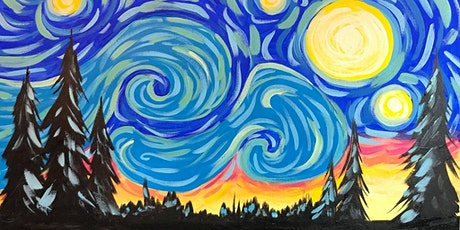 Paint Night in Rockland - Starry Night at G.A.B.'s billets
