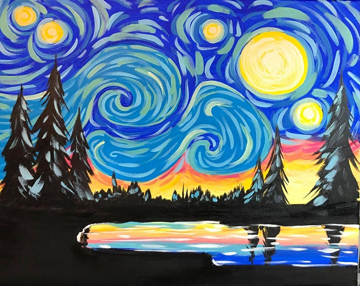 Paint Night in Rockland - Starry Night at G.A.B.'s image