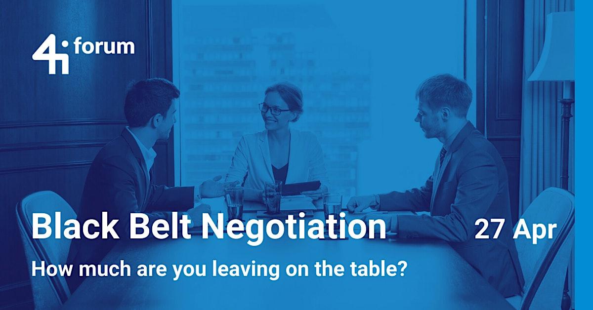 4iforum: Black Belt Negotiator