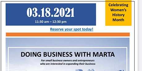 Doing Business With Marta Lunch and Learn tickets