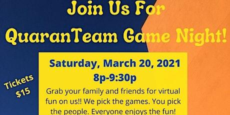 The Event Experience VIRTUAL QUARANTEAM GAME NIGHT tickets