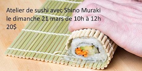 Confectionner des rouleaux de sushi en ligne - le dimanche 21 mars tickets