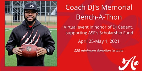 Coach DJ's Memorial [Virtual] Bench-A-Thon ingressos