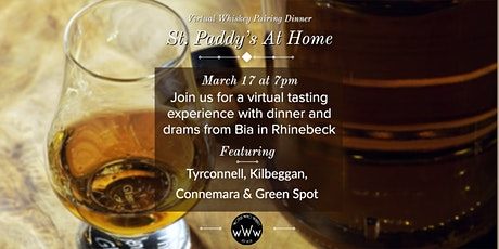 St Paddy's At Home - A Virtual Whiskey Pairing Dinner tickets