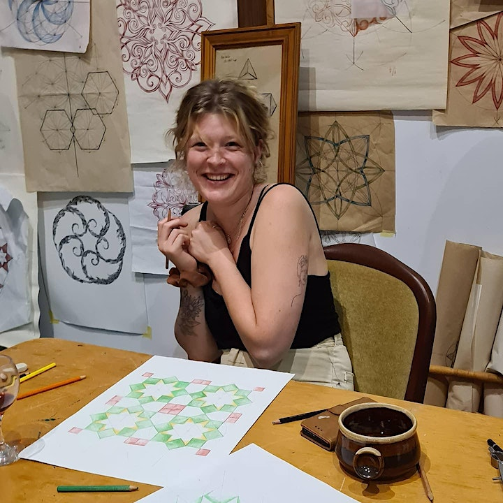 Pattern and Pinot ~ Drawing Workshop image