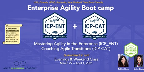 ICAgile Enterprise Agile Coaching Bootcamp (ICP-CAT + ICP-ENT) tickets