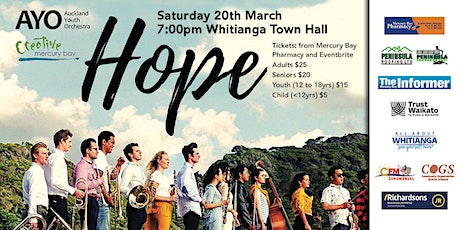 Auckland Youth Orchestra - HOPE - March Concert Series tickets