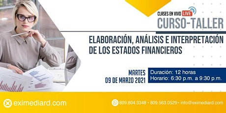 CURSO - TALLER ANALISIS E INTERPRETACIÓN DE ESTADOS FINANCIEROS tickets