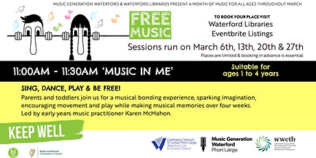 'Music in Me' Sing, Dance, Play & Be Free tickets