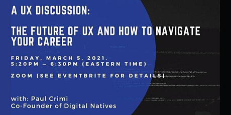 A UX Discussion: The future of UX and your career tickets