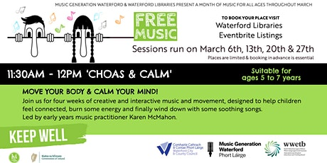 'Chaos & Calm' Move your body & Calm your mind tickets
