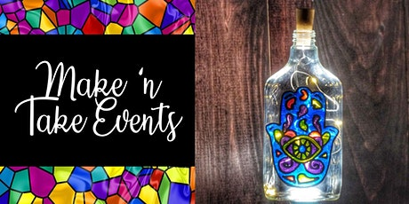 Make N Take Event - Stained Glass Bottles - Hamsa tickets