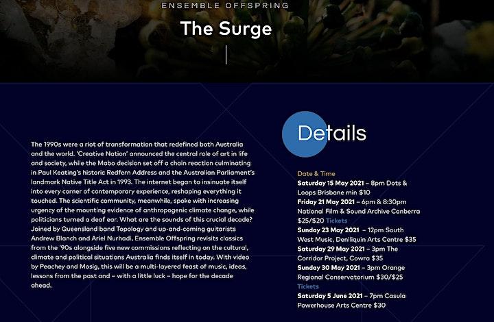 The Surge -  Ensemble Offspring - Concert - venue: the CORRIDOR project image