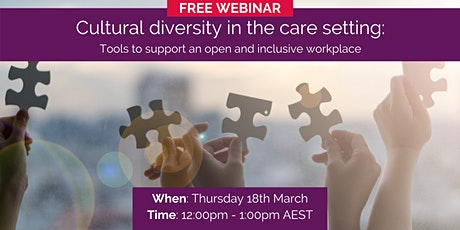 Cultural diversity in the care setting billets