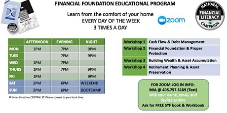 Financial Literacy Workshop (Series 4) tickets