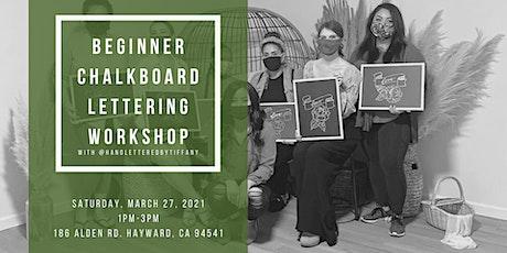 Beginner Chalkboard Lettering Workshop tickets
