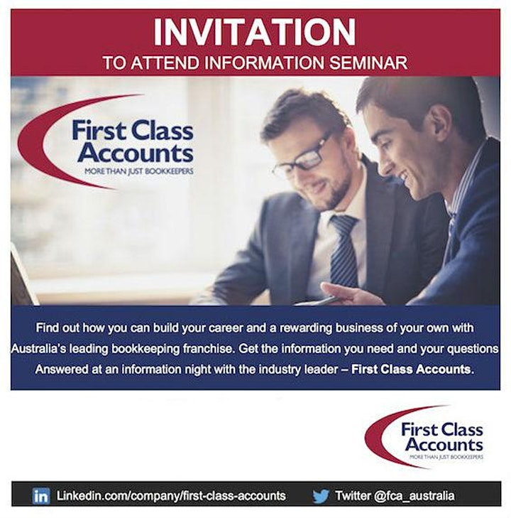 First Class Accounts Bookkeeping Information Seminar Sydney - March 2021 image