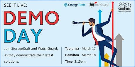 Demo Day - StorageCraft & WatchGuard - Tauranga tickets