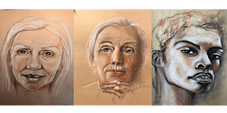Portraits Drawing Workshop using trois colours (charcoal, chalk, sepia) tickets