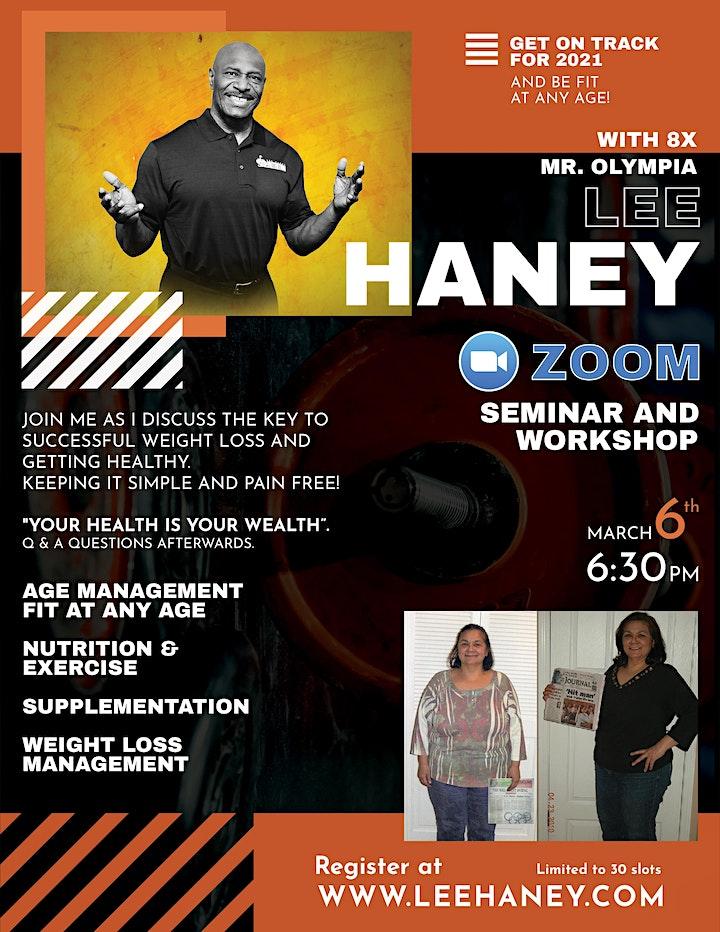Get on Track for 2021: Lee Haney Zoom Seminar image