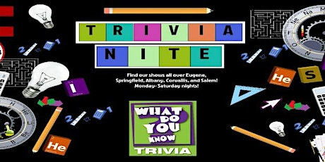 What Do You Know? Trivia Mondays tickets